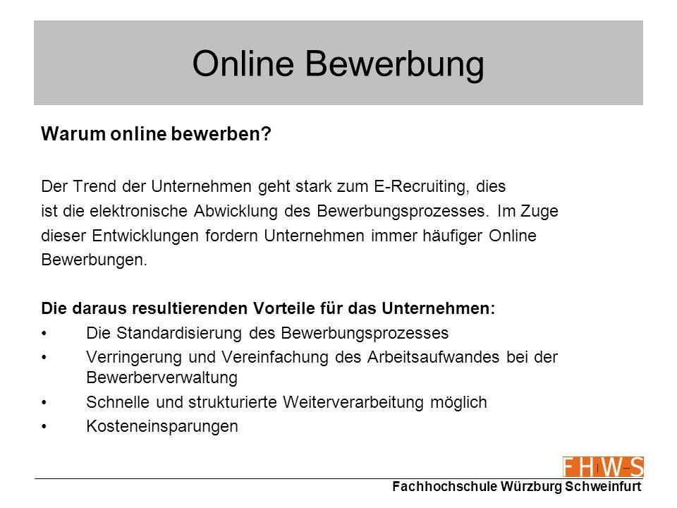 Online Bewerbung Warum online bewerben