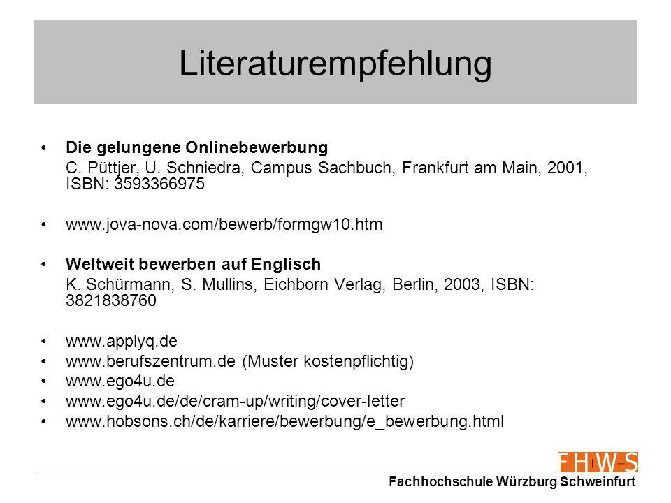 Literaturempfehlung Die gelungene Onlinebewerbung