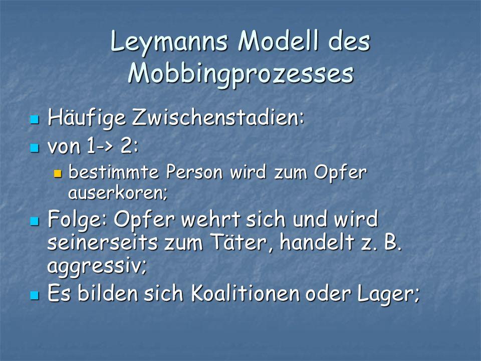 Leymanns Modell des Mobbingprozesses