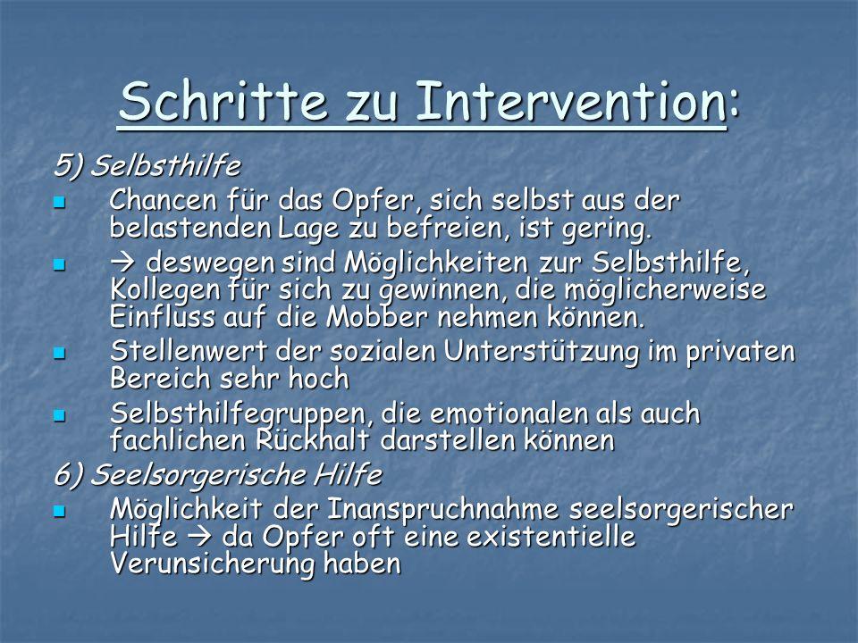 Schritte zu Intervention: