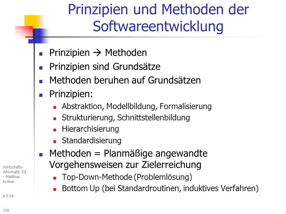Prinzipien und Methoden der Softwareentwicklung