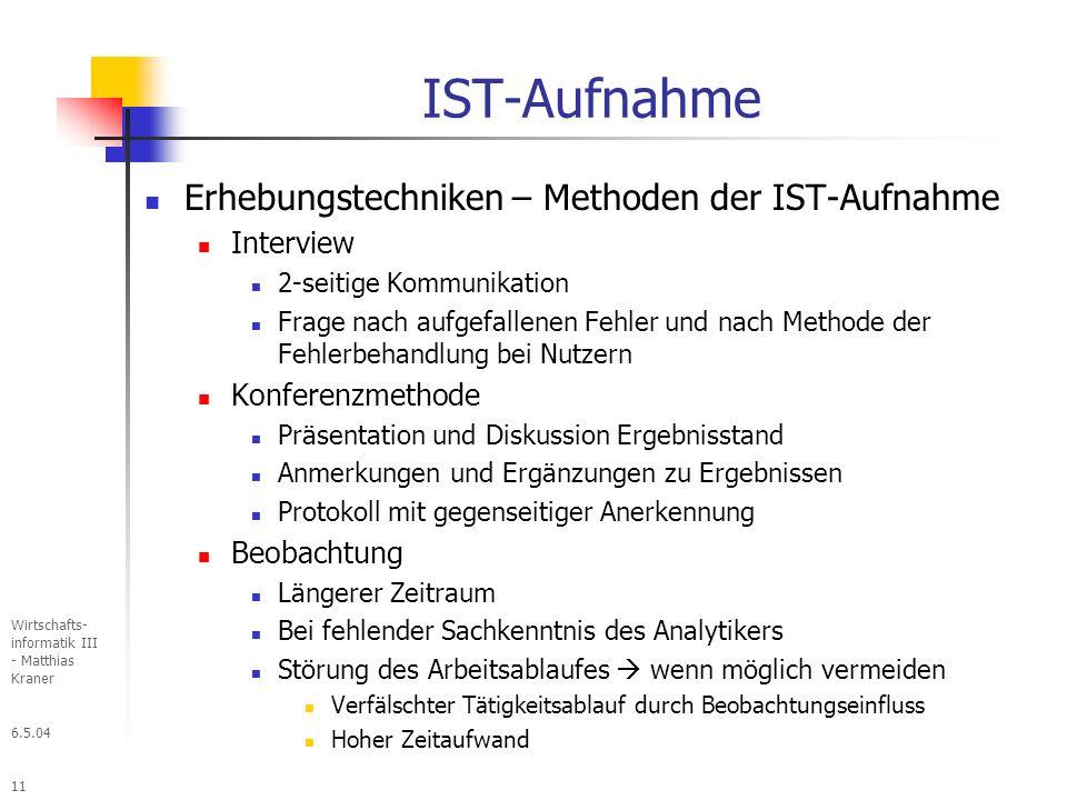 IST-Aufnahme Erhebungstechniken – Methoden der IST-Aufnahme Interview