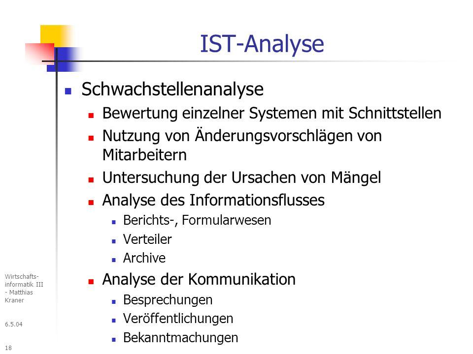 IST-Analyse Schwachstellenanalyse