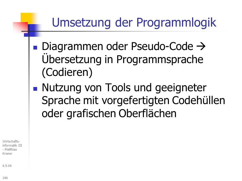 Umsetzung der Programmlogik