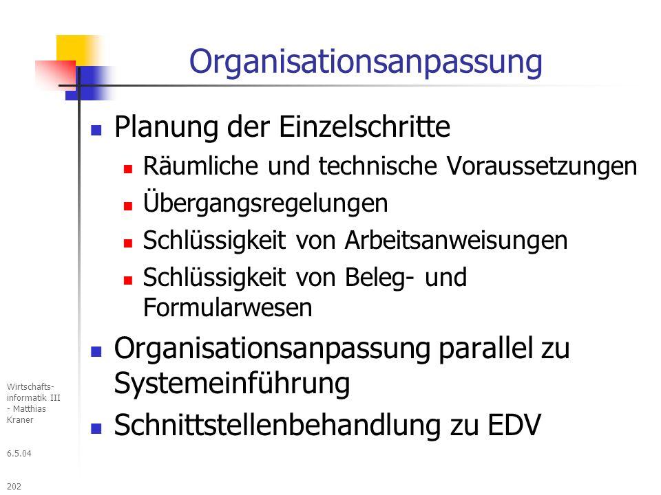 Organisationsanpassung