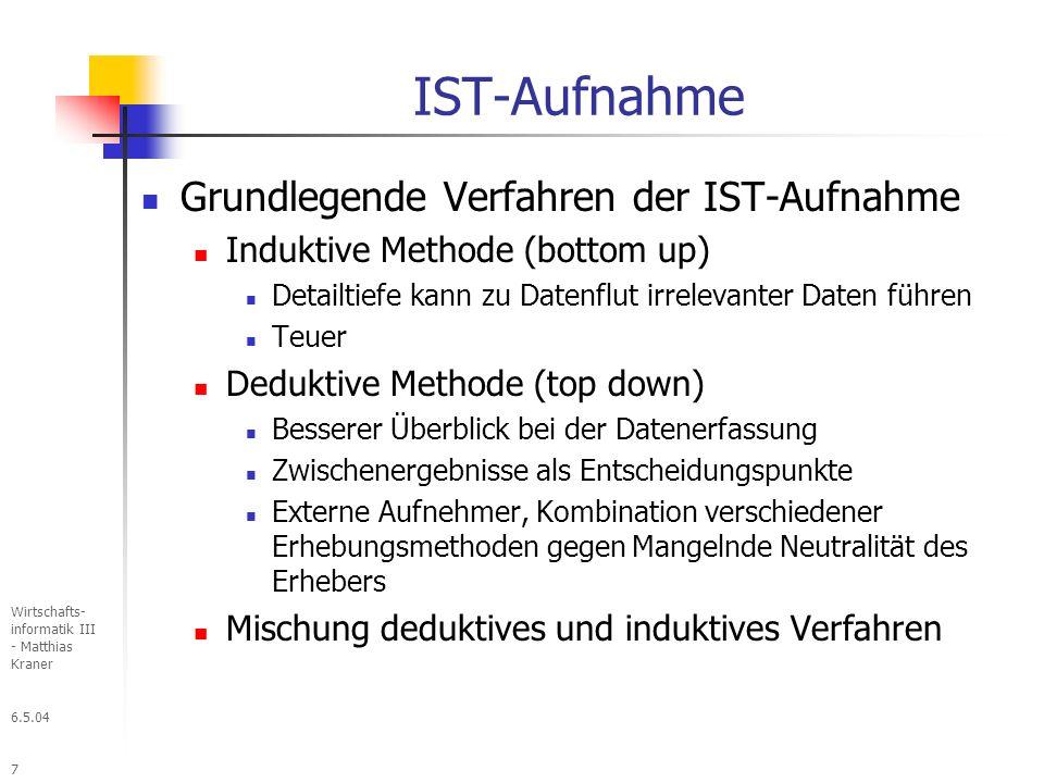 IST-Aufnahme Grundlegende Verfahren der IST-Aufnahme