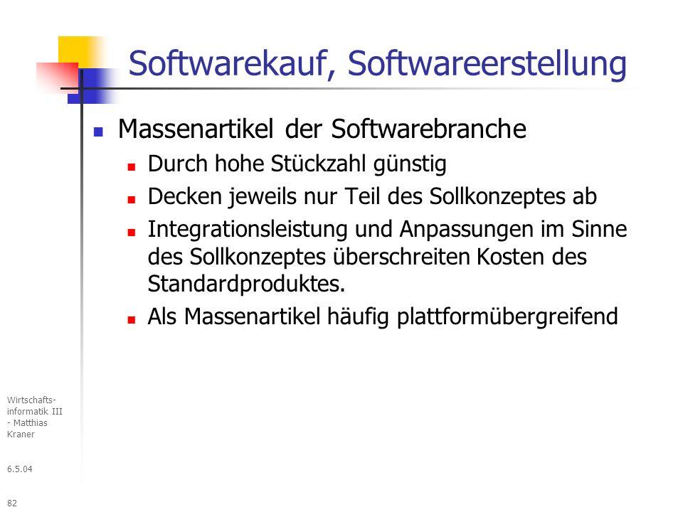 Softwarekauf, Softwareerstellung