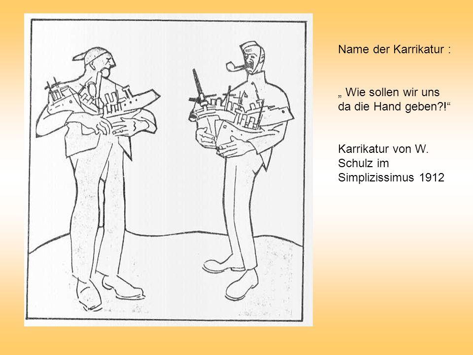 """Name der Karrikatur : """" Wie sollen wir uns da die Hand geben ! Karrikatur von W."""