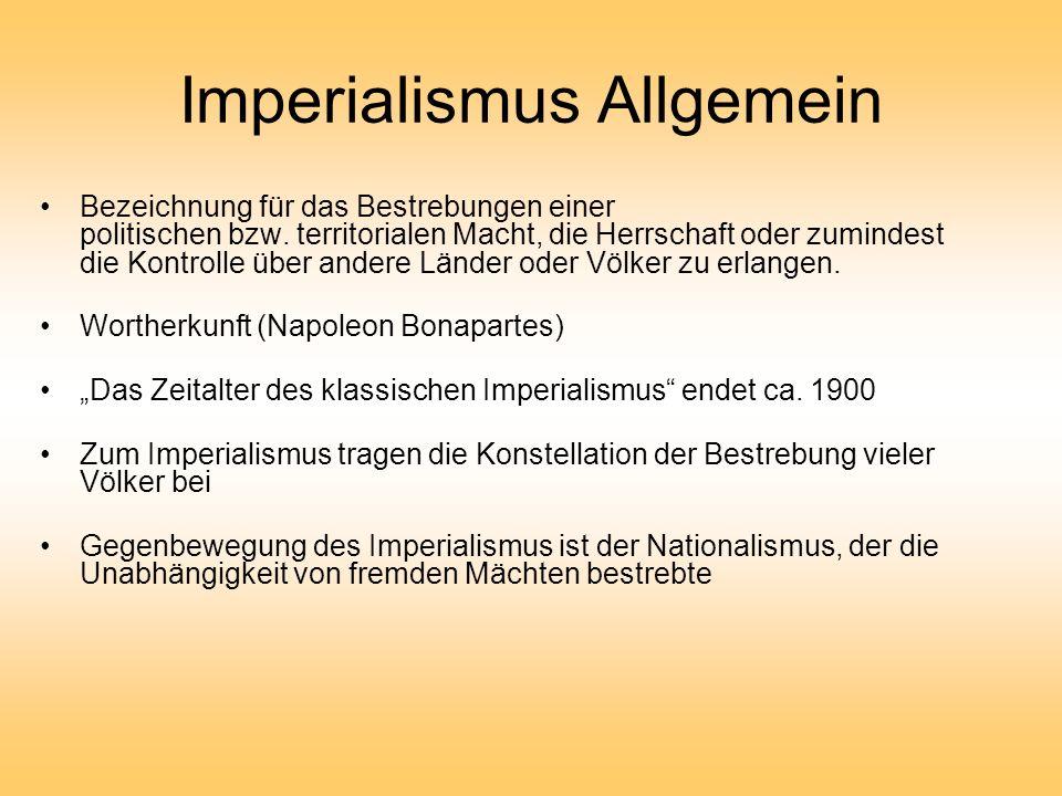 Imperialismus Allgemein