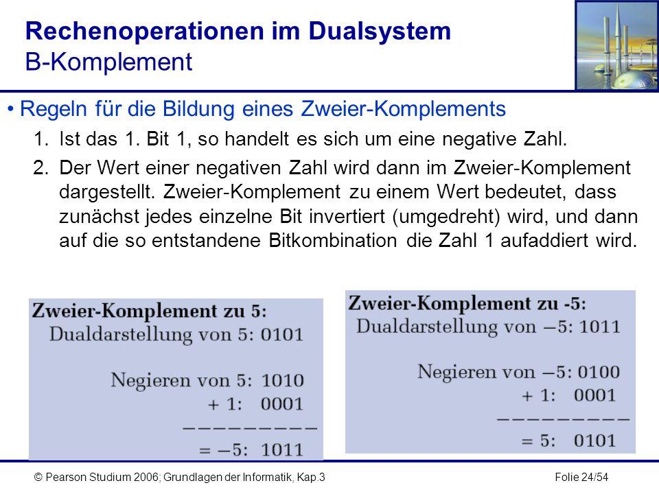 Rechenoperationen im Dualsystem B-Komplement