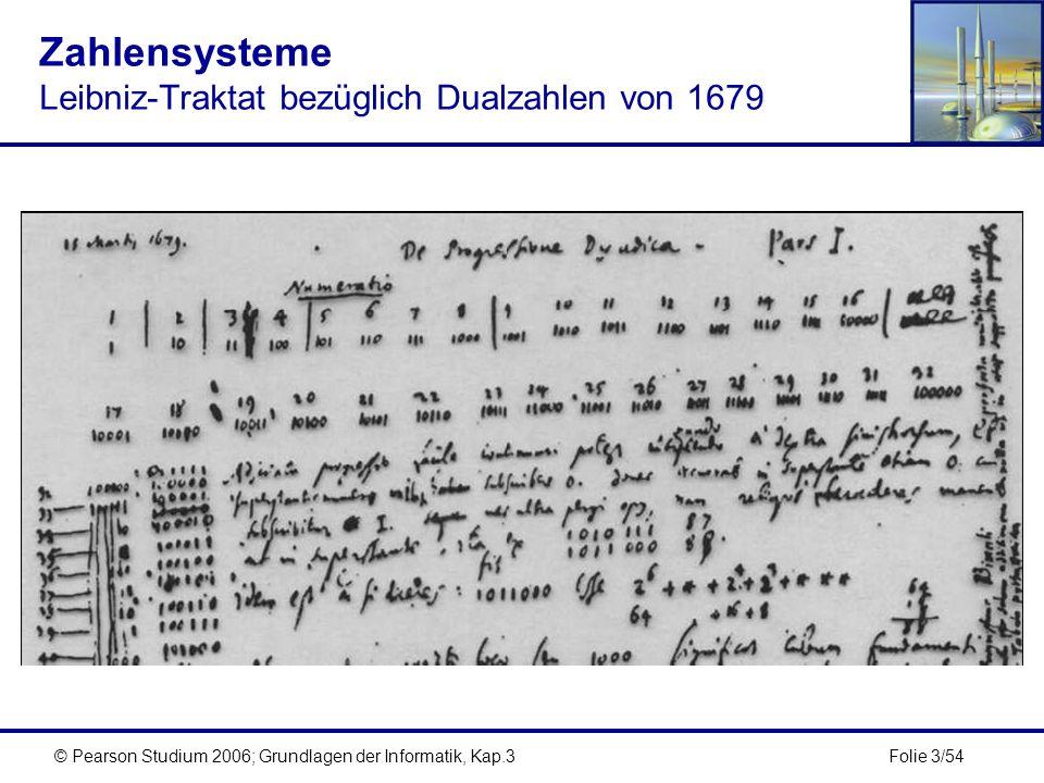 Zahlensysteme Leibniz-Traktat bezüglich Dualzahlen von 1679