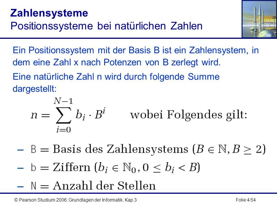 Zahlensysteme Positionssysteme bei natürlichen Zahlen