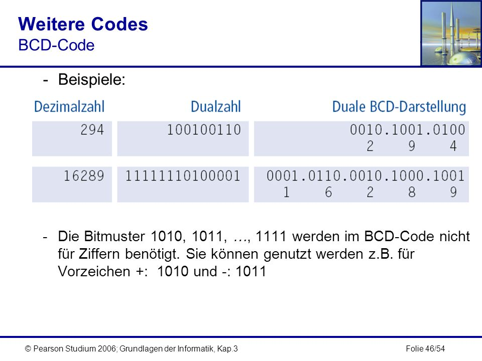 Weitere Codes BCD-Code