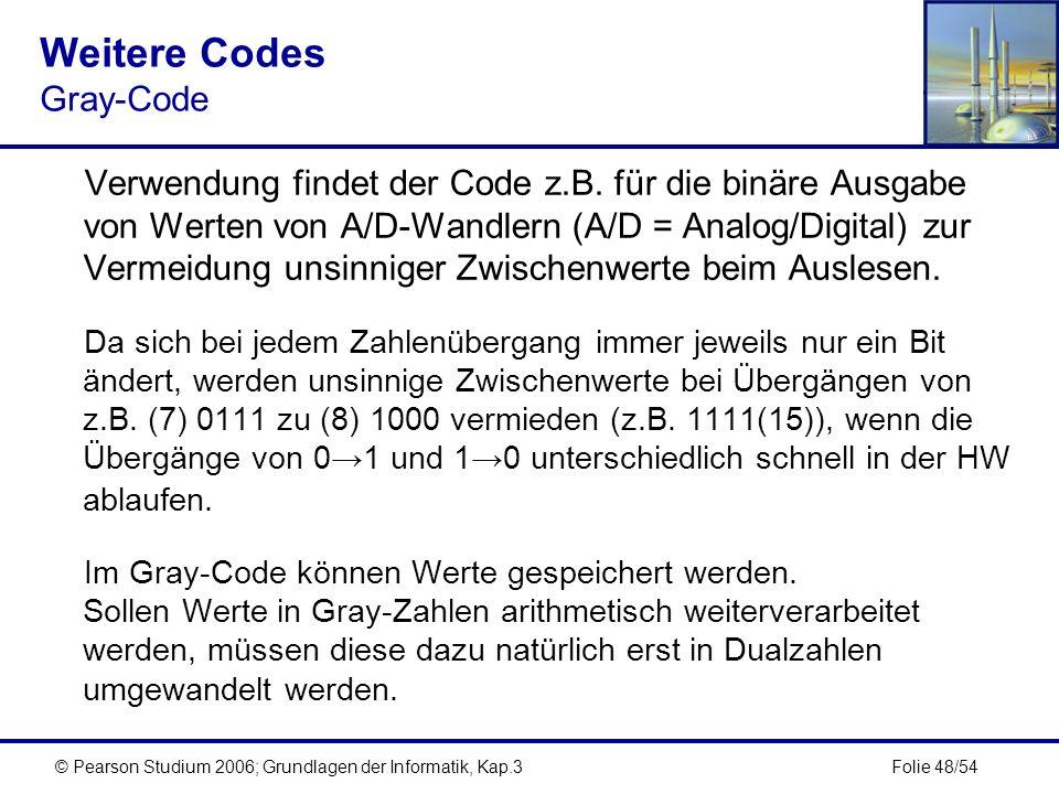 Weitere Codes Gray-Code