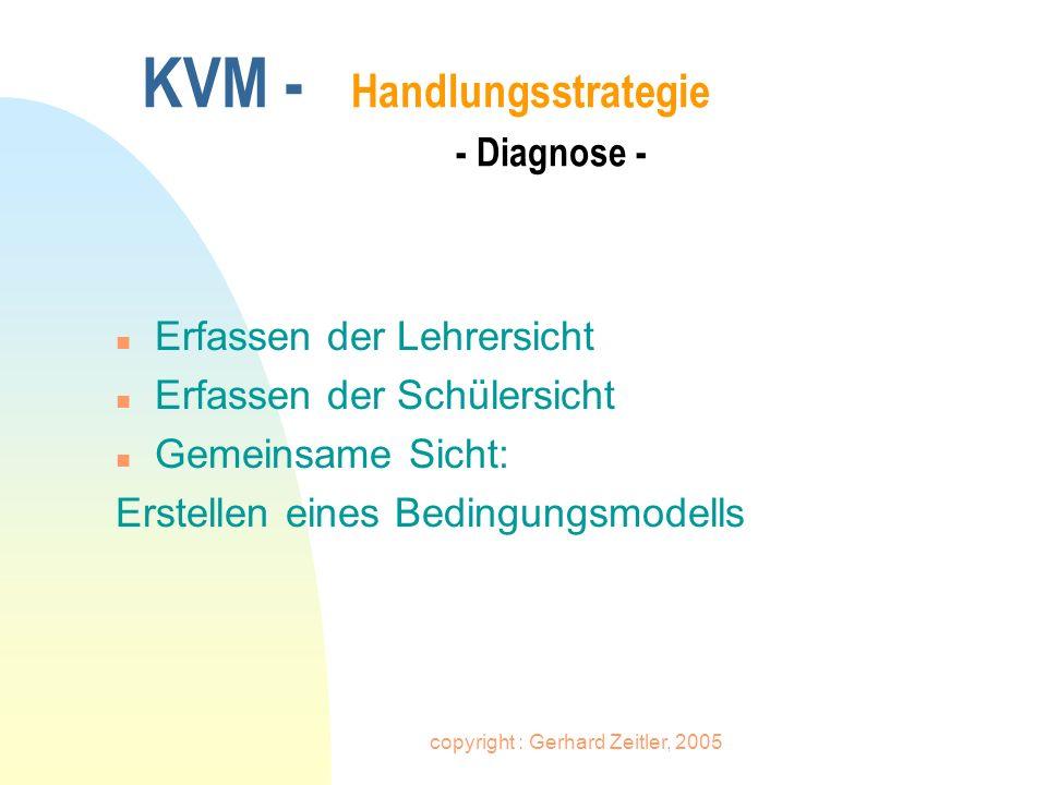 KVM - Handlungsstrategie - Diagnose -