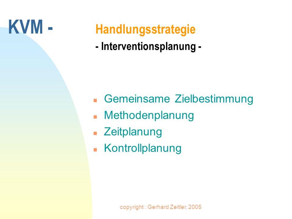 KVM - Handlungsstrategie - Interventionsplanung -