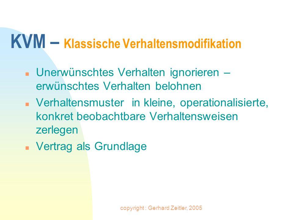 KVM – Klassische Verhaltensmodifikation