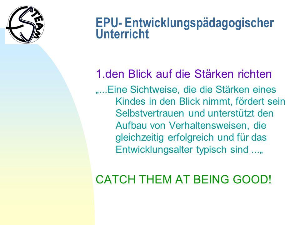 EPU- Entwicklungspädagogischer Unterricht