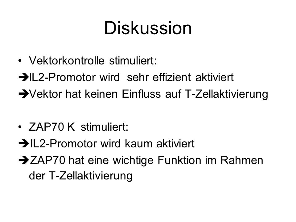 Diskussion Vektorkontrolle stimuliert:
