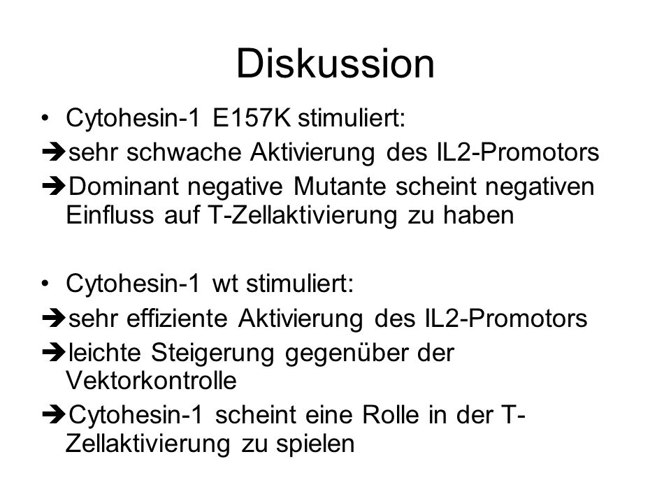 Diskussion Cytohesin-1 E157K stimuliert: