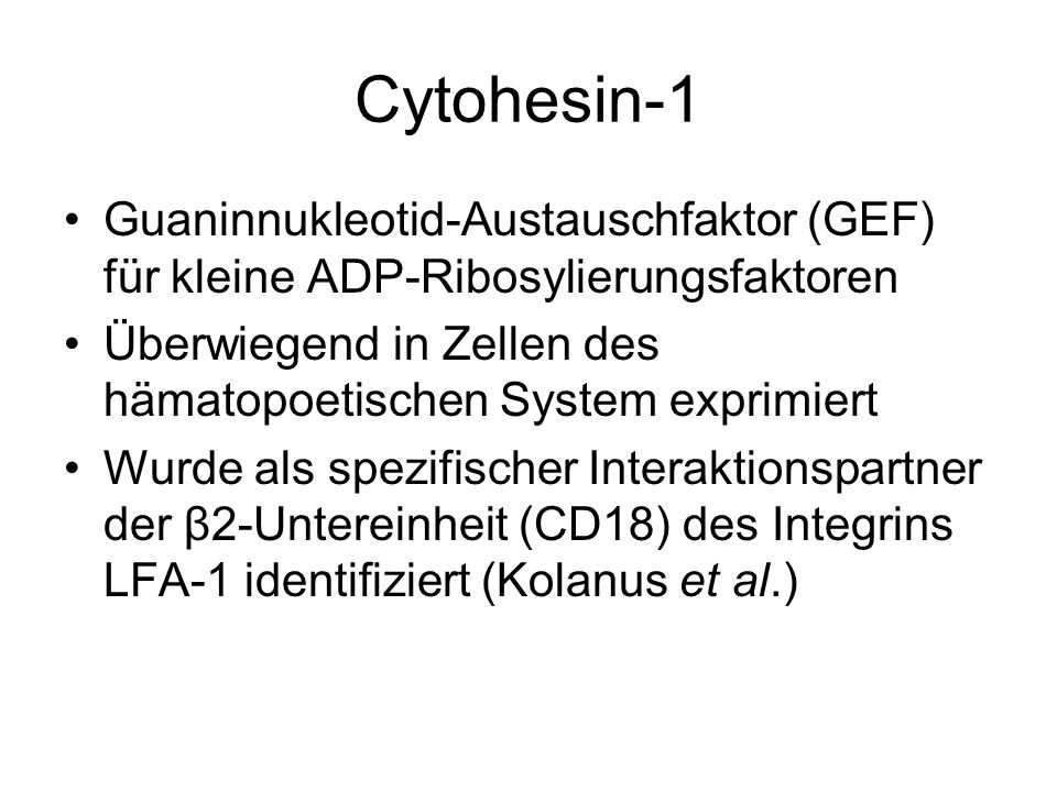 Cytohesin-1 Guaninnukleotid-Austauschfaktor (GEF) für kleine ADP-Ribosylierungsfaktoren.