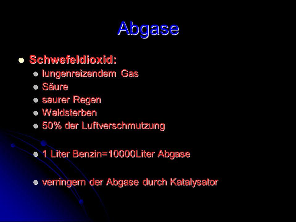 Abgase Schwefeldioxid: lungenreizendem Gas Säure saurer Regen