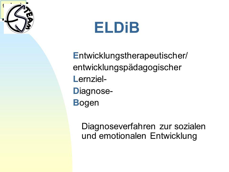 ELDiB Entwicklungstherapeutischer/ entwicklungspädagogischer Lernziel-