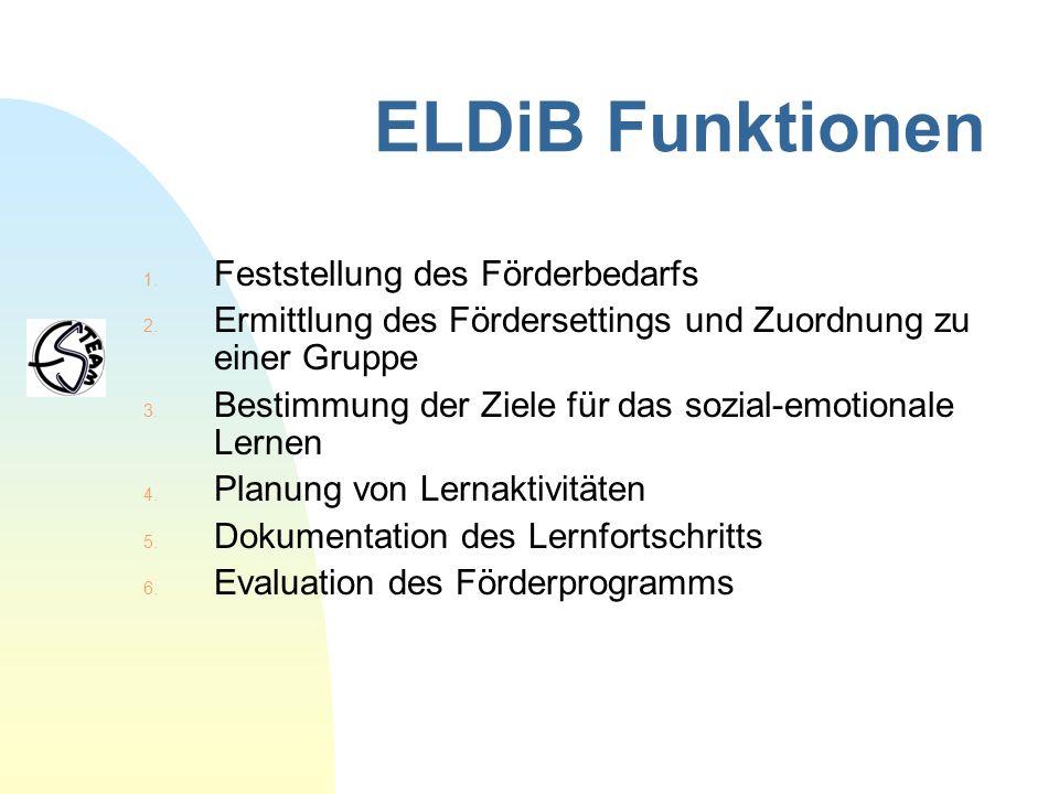 ELDiB Funktionen Feststellung des Förderbedarfs