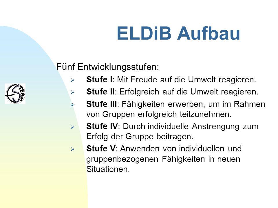 ELDiB Aufbau Fünf Entwicklungsstufen: