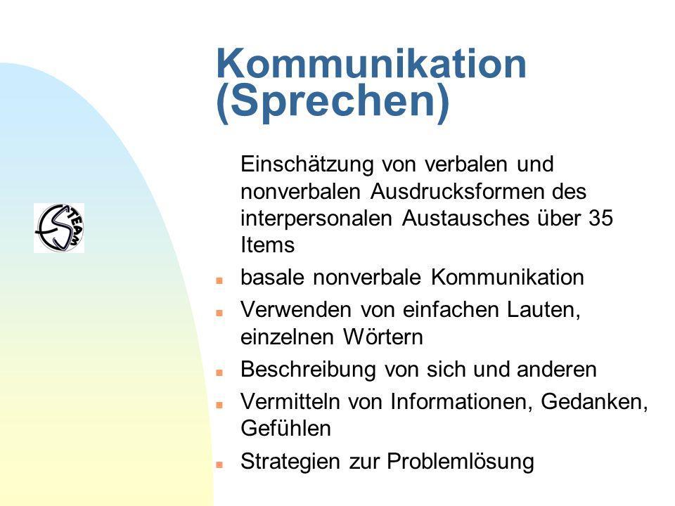 Kommunikation (Sprechen)