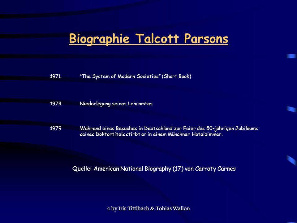 Biographie Talcott Parsons