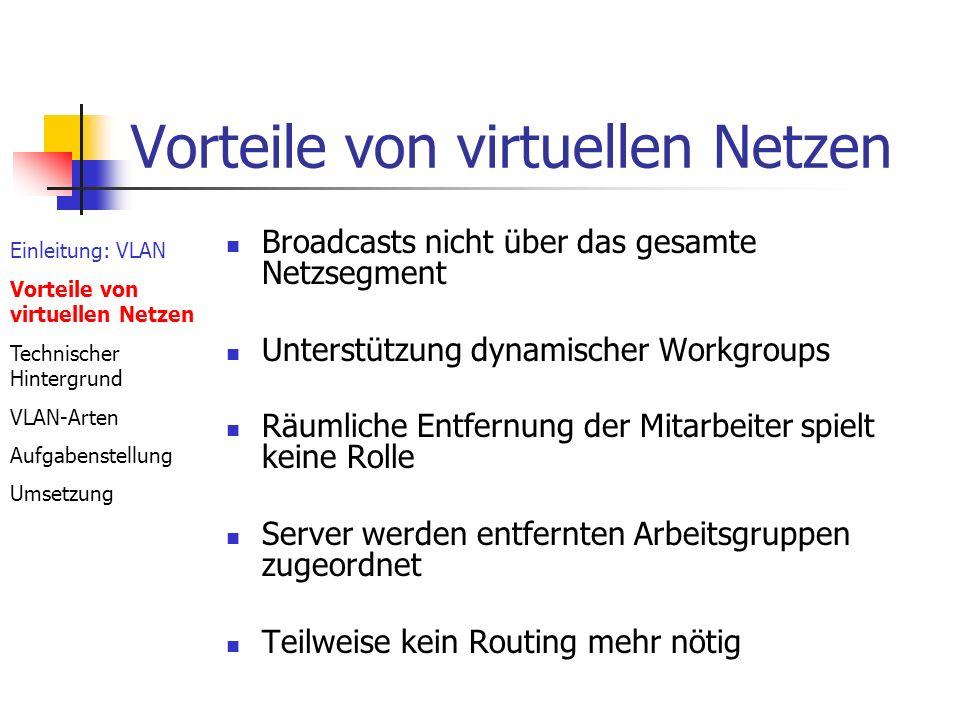 Vorteile von virtuellen Netzen