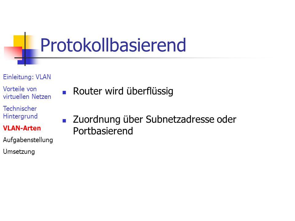 Protokollbasierend Router wird überflüssig