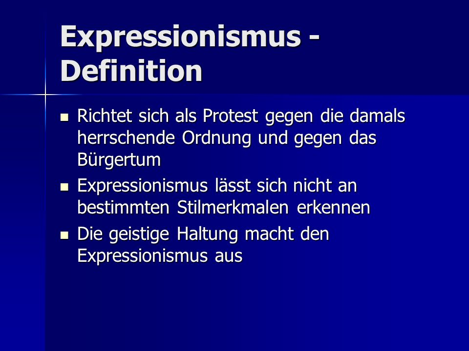 Expressionismus - Definition