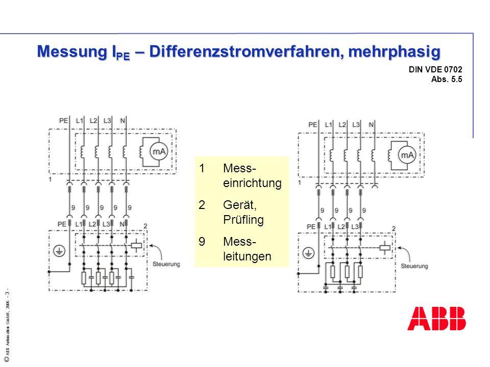 Messung IPE – Differenzstromverfahren, mehrphasig
