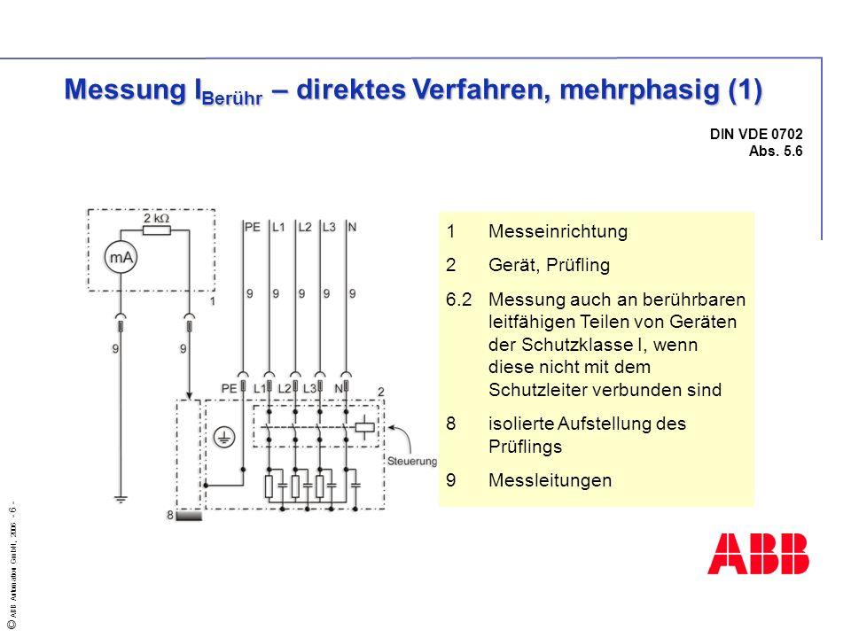 Messung IBerühr – direktes Verfahren, mehrphasig (1)