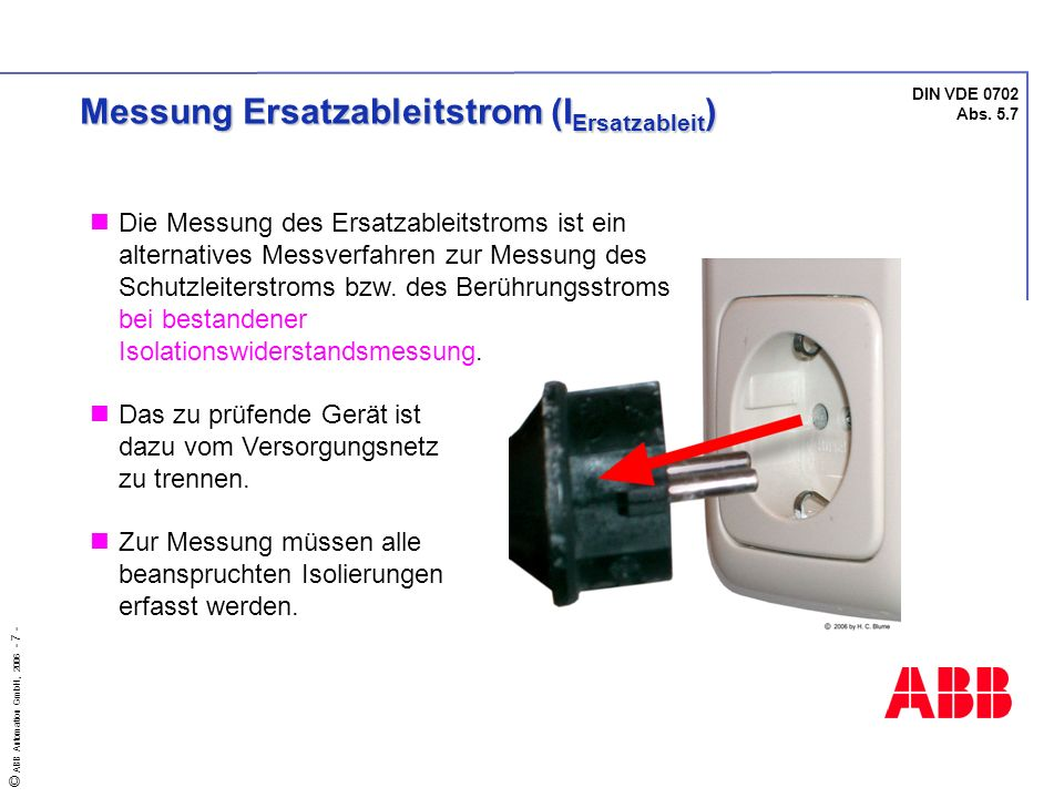 Messung Ersatzableitstrom (IErsatzableit)