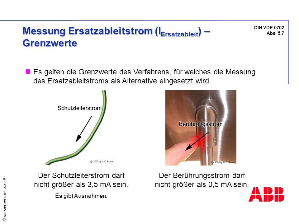Messung Ersatzableitstrom (IErsatzableit) – Grenzwerte