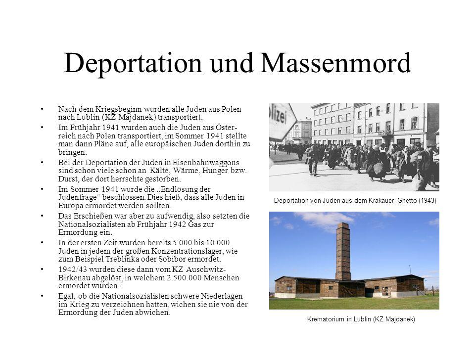 Deportation und Massenmord