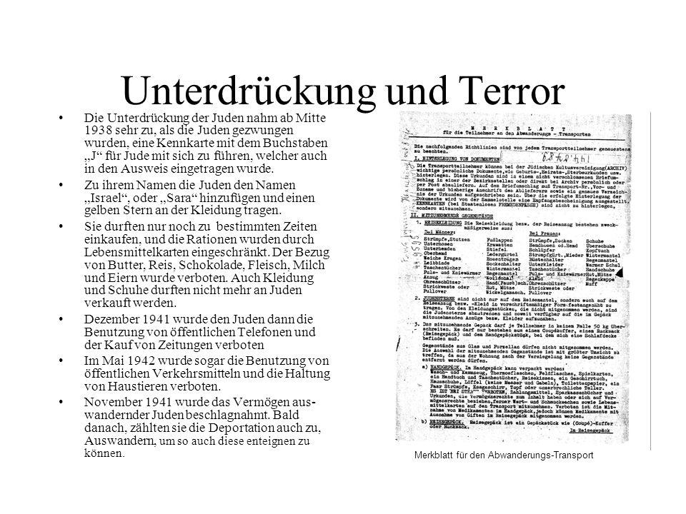 Unterdrückung und Terror