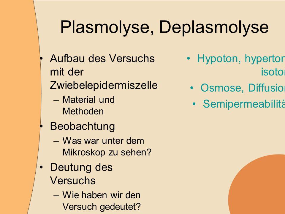 Plasmolyse, Deplasmolyse