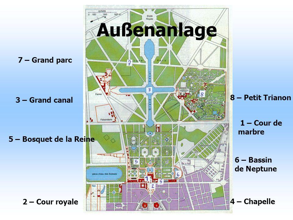 Außenanlage 7 – Grand parc 8 – Petit Trianon 3 – Grand canal