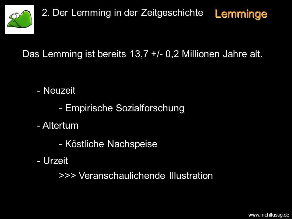 Lemminge 2. Der Lemming in der Zeitgeschichte