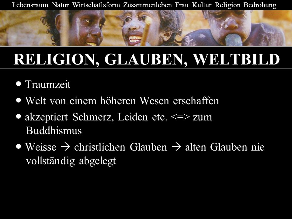 RELIGION, GLAUBEN, WELTBILD