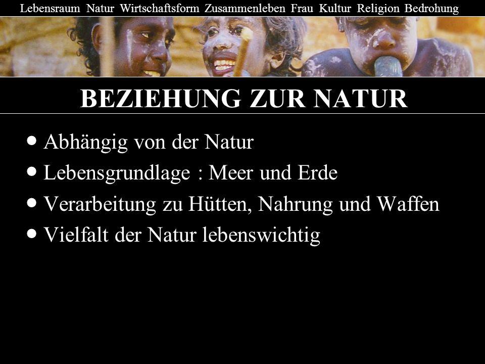 BEZIEHUNG ZUR NATUR ● Abhängig von der Natur