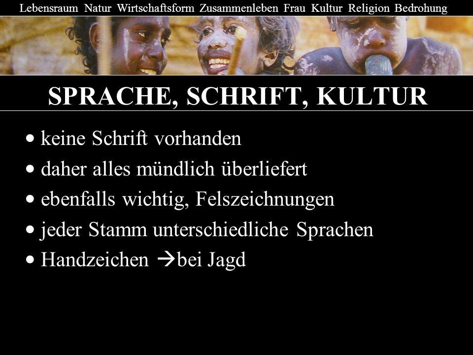 SPRACHE, SCHRIFT, KULTUR