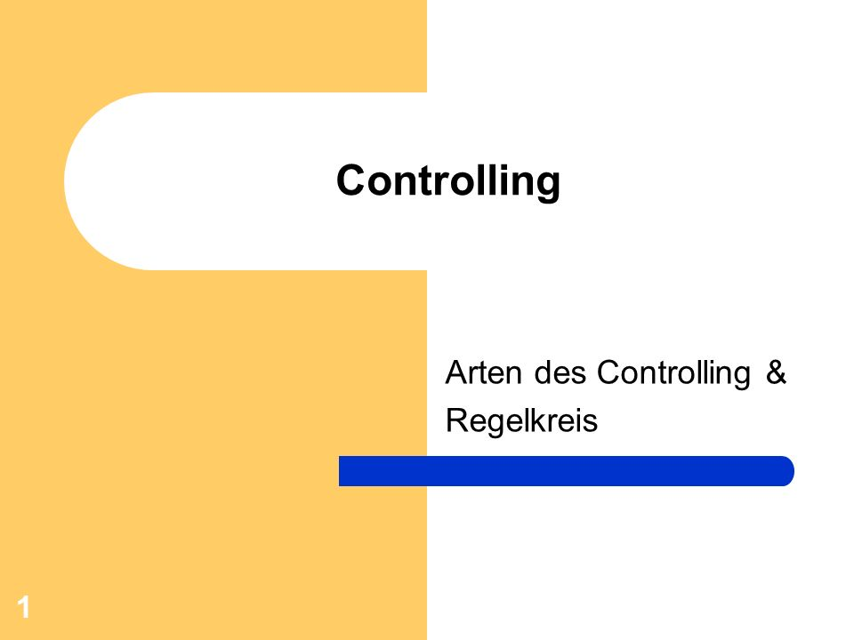 Arten des Controlling & Regelkreis