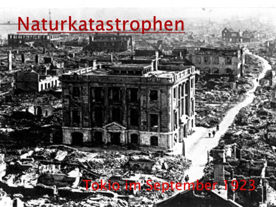 Naturkatastrophen Tokio im September 1923