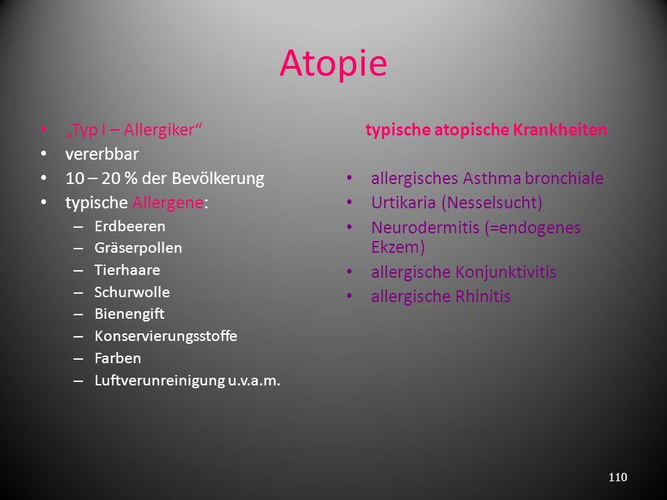 typische atopische Krankheiten
