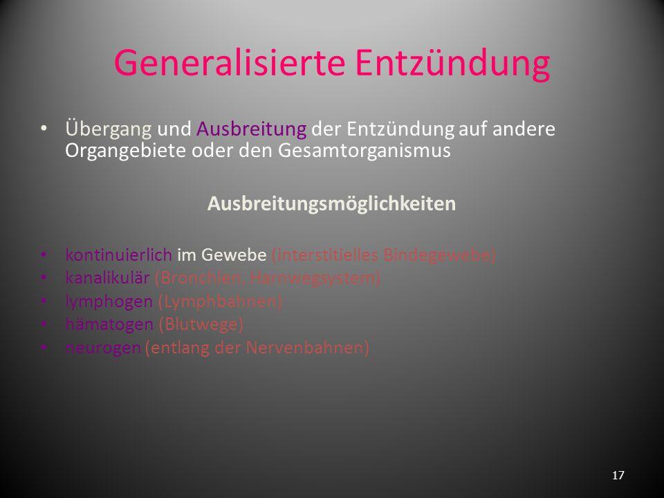 Generalisierte Entzündung